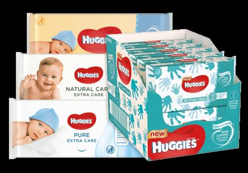 Huggies billendoekjes en babydoekjes aanbiedingen