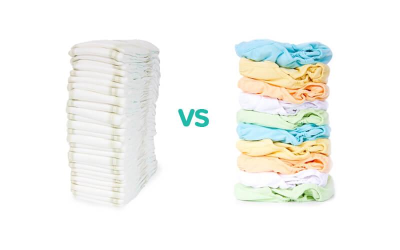 wegwerpbare luiers versus wasbare luiers